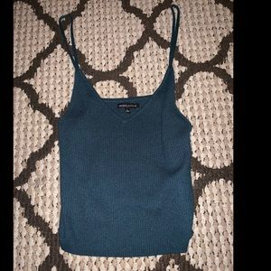 Teal Kendall & Kylie Cropped tank top